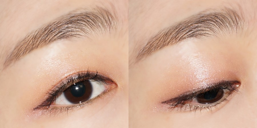簡單的在眼皮上抹上單色眼影再畫個眼線睫毛膏,就像精心畫好妝一樣,超級容易~