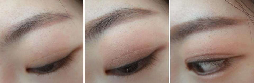 女神個人很推薦霧面色!一筆畫上眼皮後推勻、就能完成清淡日常的眼妝,也可以當作眼妝的後續打底~