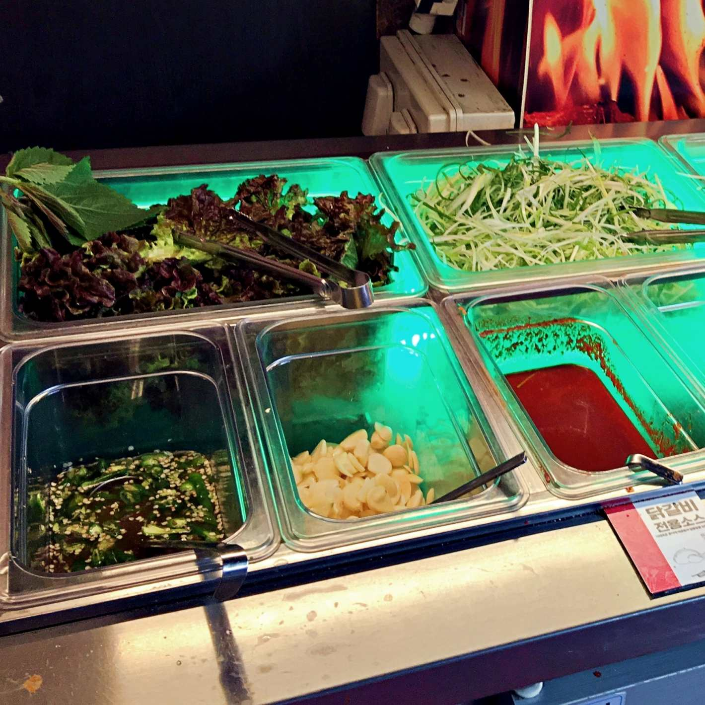 這邊是生菜沙拉自助bar。