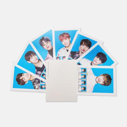還有一定要珍藏的BTS  THE WINGS TOUR「郵票組」。 原價:399 真的是可愛到完全不敢用,但應該沒有粉絲會使用啦XD