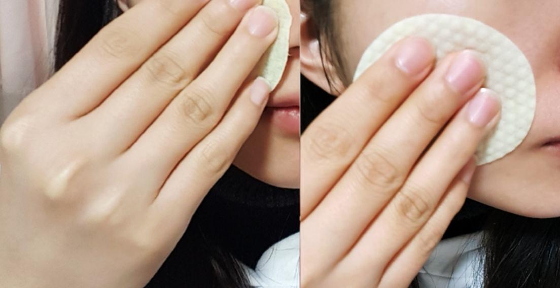 使用分兩步驟,先用棉片上的突起面溫和的清除角質,連毛孔跟皮脂都乾淨俐落!接著再用滑潤面來鎮靜、保濕肌膚,可以瞬間提亮肌膚色調!