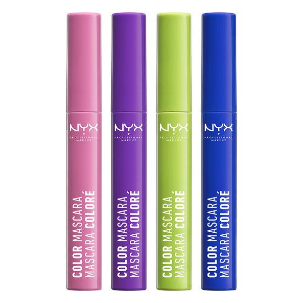 NYX Color Mascara: NYX Color Mascara 這款睫毛膏,每隻睫毛膏的顏色都非常鮮豔,這系列一共有8個顏色,紫色、藍色、棕色、青綠色、深珊瑚色、薄荷色、薰衣草色、玫瑰粉,而且這系列非常平價,很適合想要玩色的新朋友們手刀購入!!