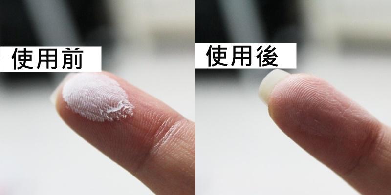 這款顏色是白色透明狀,因此使用在頭髮上不會有明顯的痕跡,撥開來也不會霧霧的感覺,粉體也不會很粗,摸起來真的很像用在臉上的蜜粉XDD(小心不要用錯)