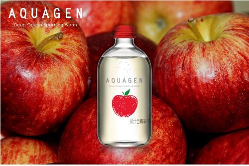 >AQUAGEN海洋深層氣泡水-奧地利香蘋風味: AQUAGEN還另外推出了一款,老少咸宜的蘋果風味,這款的蘋果萃取來自奧地利-音樂神童莫札特的故鄉,除了蘋果滋味之外更添加法國香瓜、接骨木莓萃取,味道酸甜。可愛的外包裝也是令人忍不住收藏啊~~