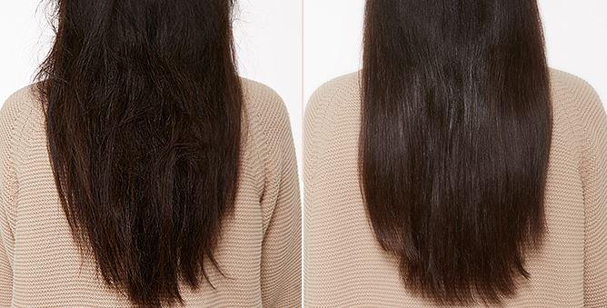 還有還有,它不只是有養護頭皮的效果,內含的覆盆子萃取物、植物角蛋白、摩洛哥堅果油,更能提供給頭髮滿滿的養分!看看使用前後的差異,原本乾燥無光的頭髮,是不是瞬間變得柔亮許多啊?頭皮+頭髮的保養一次滿足,只要119元。CP值的部分就給大家自己判斷啦~