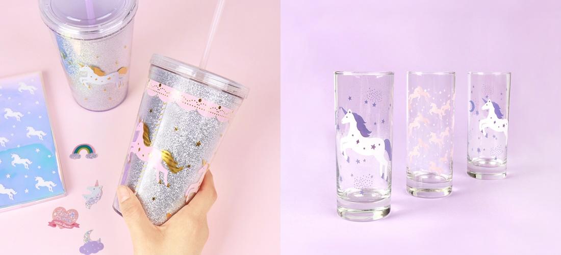 這次的杯子也超夢幻,除了以紫外光為主,配上銀色的閃片感覺超適合,看了就有種沁涼感啊~