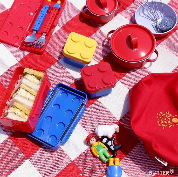 野餐系列也是樂高玩具風格,搭配的顏色也很樂高,帶出去用心情就好好,最適合跟男友一起賣萌!這款真心想收啊~