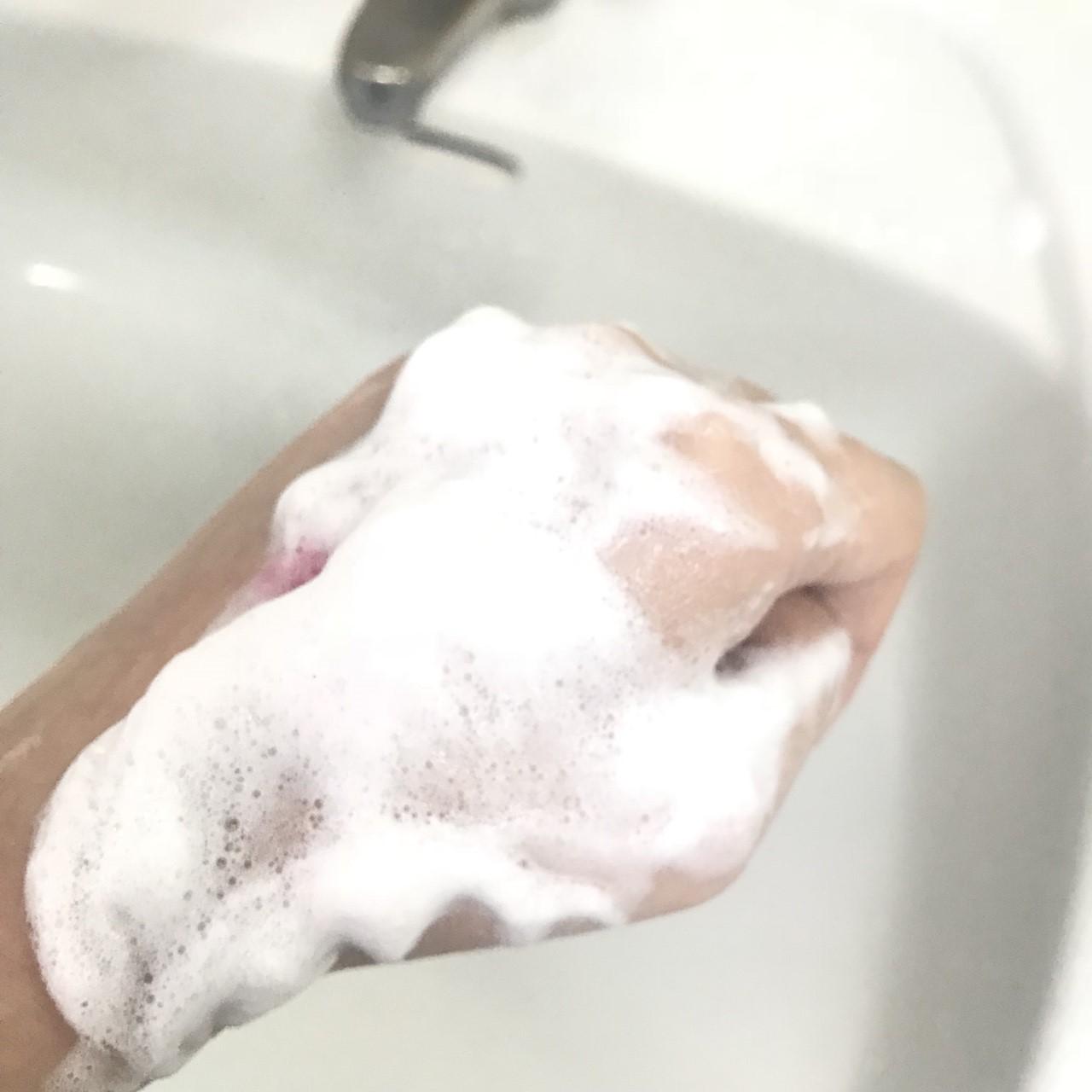 看看這綿密的泡沫~真的超細密的!