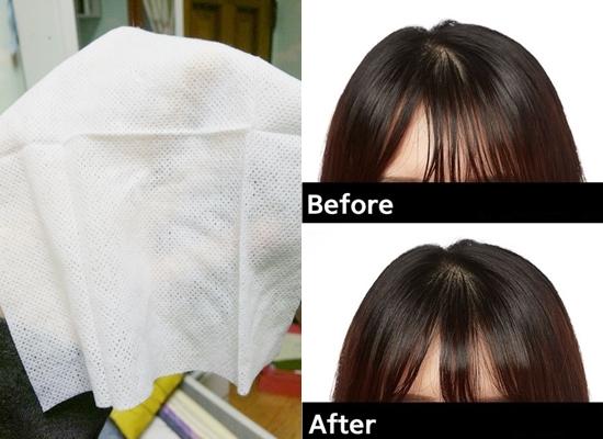 這款紙巾就像一般的濕紙巾一樣,但是用在頭髮上卻有吸油的效果唷。很多女生每到下午瀏海就會油油的像麵條一樣1根1根的,或是頭頂很油讓分線看起來很明顯,好像禿頭一樣TT 這時候就可以拿出這款吸油紙巾擦一擦,就可以恢復蓬鬆的瀏海和頭頂了唷~而且現在買4送1,油頭人麻煩直接買1打起來囤貨,不然頭油沒有神奇吸油紙巾可以用真的是欲哭無淚啊XD
