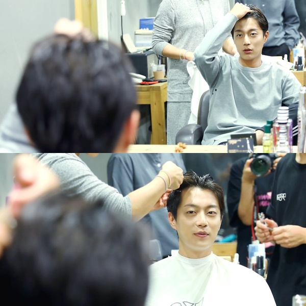 一開始想要像韓國電影《大叔》中的經典場面嘗試親自剪髮,但因為是第一次,最後還是選擇接受了專家的援手XD