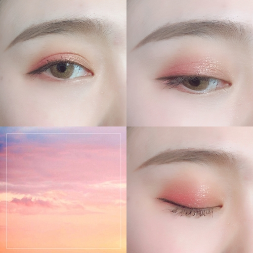 但就是HOLDLIVE的眼影粉質都十分細膩,珠光一抹下去,完全就是我們心目中所想的那道漂亮的光澤啊!(遮眼) 除了粉質細膩柔軟之外,顯色度和延展性也很不錯,因此很好做暈染,隨便亂抹(?)就可以畫出漂亮的眼妝~