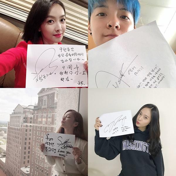 不過成員們還是在IG上傳了照片以及手寫信,感謝長時間一直陪伴在她們身邊的粉絲們。