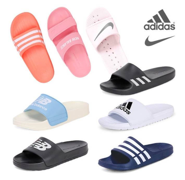 再來受高中生歡迎的就是有品牌的拖鞋了!像是NIKE、adidas等。為什麼會這麼受到學生歡迎呢?第一個原因當然就是外觀好看,再來是材質跟耐穿度比三線拖好很多,不過價錢貴了10倍......(可以買10雙三線拖欸)通常這種有品牌的拖鞋一雙大約3萬韓幣