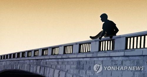 洪姓男子在社群網站上結交一位A君,並唆使他跟自己一起跳下水庫自殺