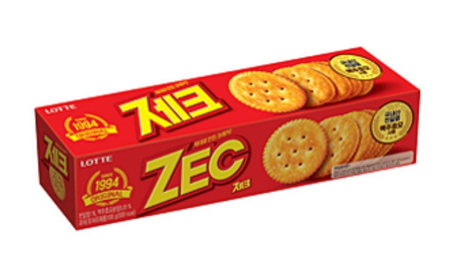 3.樂天ZEC傑克鹹味蘇打餅乾 看到紅色包裝就能馬上認出來,魔性的零食「傑克」,果然也是韓國爸爸們下班後經常會買回來的零食,油油亮亮又有點鹹的味道,雖然讓人一口接一口停不下來,但無論如何都無法理解那味道的還是大有人在,也因為如此被選為人們喜好分明的零食。