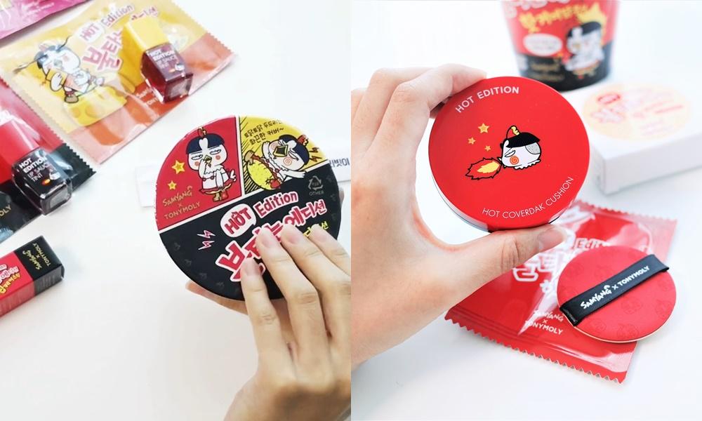 首先是氣墊的部分,利用紙杯泡麵的方式作外包裝,打開來後就是氣墊的樣子啦~連外殼造型都做紅色,真心會被洗腦以為在用辣雞麵啊(怎麼辦,偽少女一直覺得很辣??)