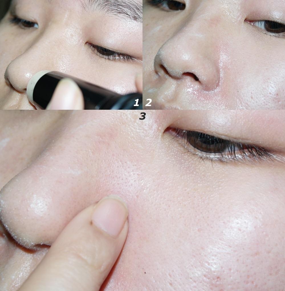 使用的方法很簡單,只要在皮脂分泌旺盛的部位沾點水,用「完美毛孔去黑頭清潔棒」在該部位用畫圓的方式輕輕按摩,再用手輔助按摩,就能將毛孔裡的老廢角質及黑頭粉刺、白頭粉刺給溶解出來~