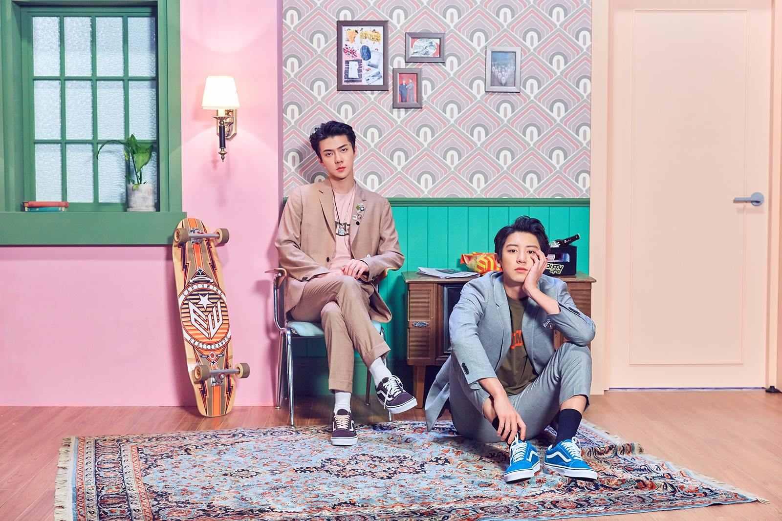 """繼伯賢和 Loco 合作發行歌曲後,燦烈和世勳也將發表新歌 """"We Young""""。  EXO-L都準備好了嗎(掌聲+尖叫XDDD)"""