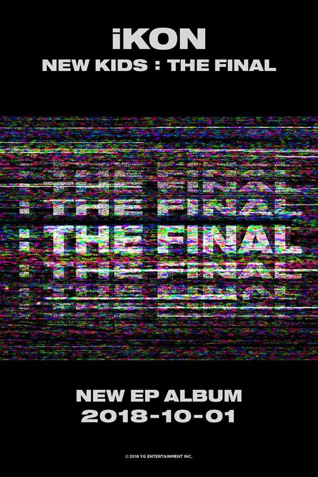iKON也將在10/1回歸喔! 一年回歸三次的頻率真的是相當驚人阿! 讓我們一起期待iKON的新作品吧~