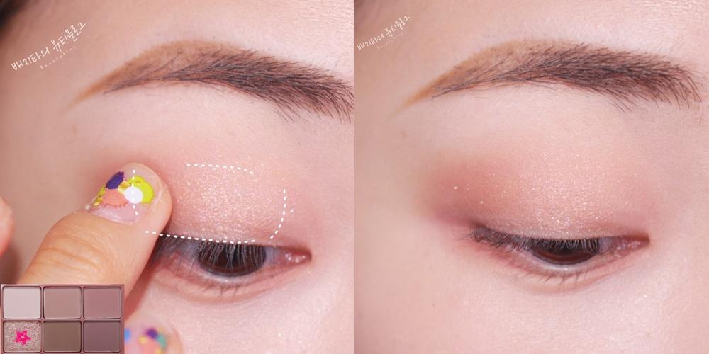 最後使用亮片色打亮眼球中間,這樣就連單眼皮也能夠駕馭的霧面妝就完成啦~老實說這幾款顏色的變化度雖然沒有非常高,但是因為畫出來真的滿漂亮,所以偽少女腦波就很弱的買了XDD