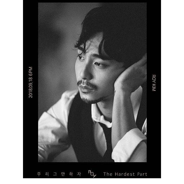 Roy Kim穿著白色西裝搭配黑色背心,捲捲的頭髮有點頹廢風格,不同於以往的歌曲風格讓歌迷很是期待,接下來就觀賞一下新歌遇告吧!