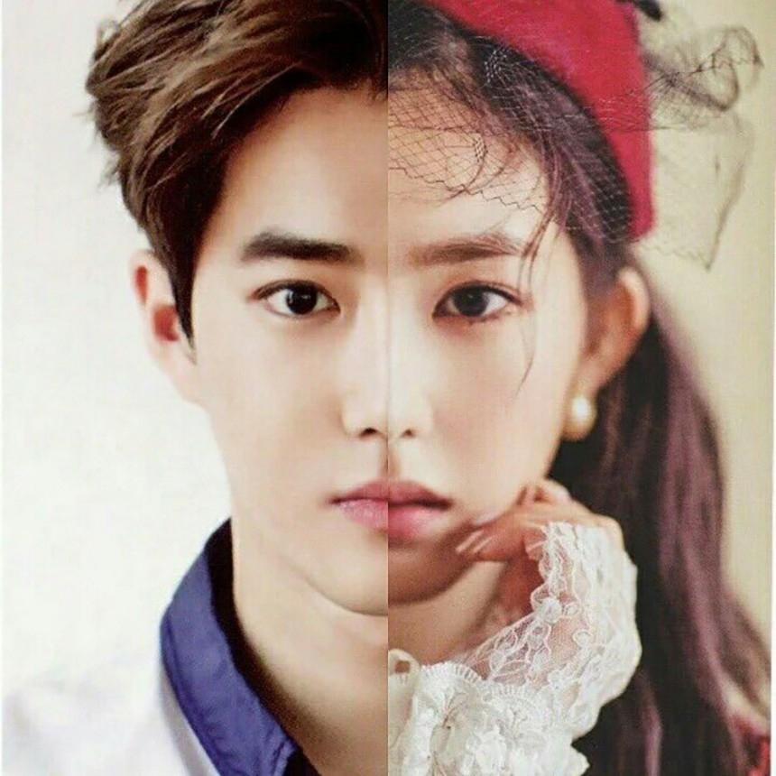 而除了Lucas和珉豪之外,在SM中出了名的臉讚EXO Suho和Red Velvet Irene也是撞臉的偶像之二阿!兩人精緻的臉蛋連整形醫生都認證是黃金比例,而Suho和Irene也被說只是性別不同,把兩人的臉放在一起,是不是很像呢?