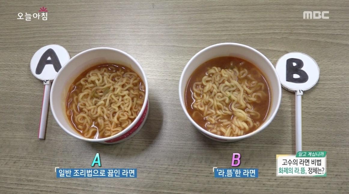 讓實驗者嚐過泡麵後,請他們選出最好吃的那一碗。