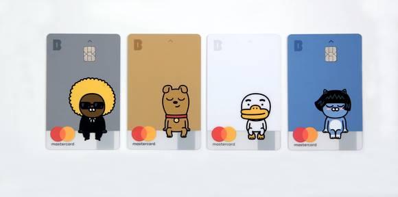 Kakao Bank簽帳卡樣式是Kakao Friends的角色,因此非常受到各年齡層歡迎,人氣可說是非常高。