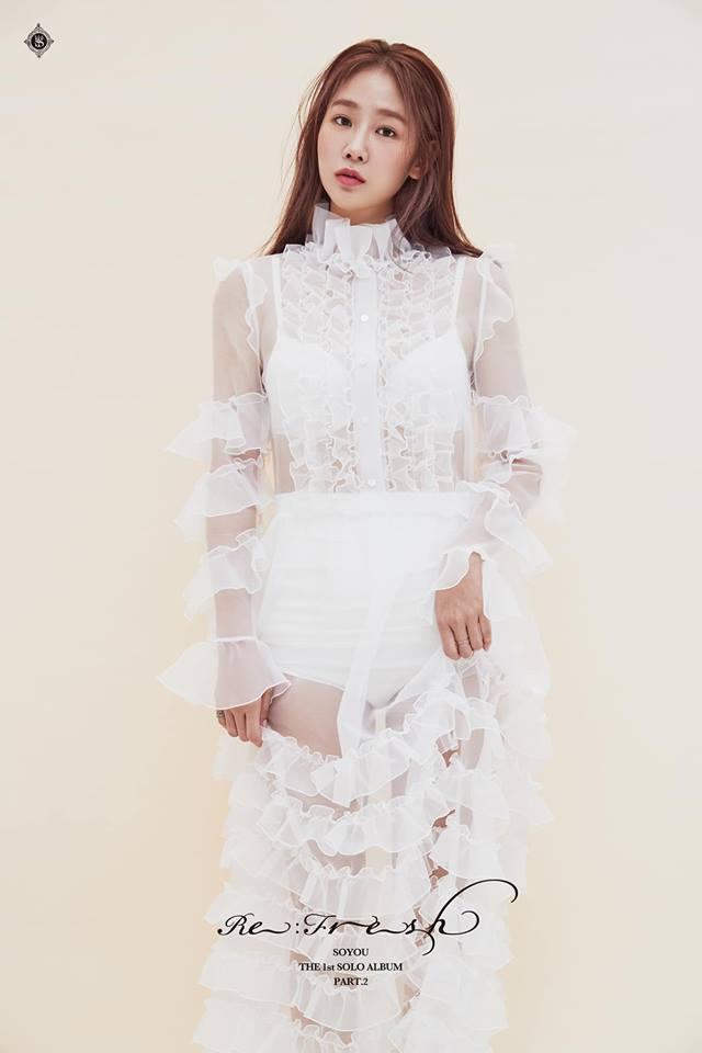 而韶宥的預告照中,以「白天」和「夜晚」展現了兩種不同的魅力。一種穿著白色禮服,加上清純的外貌以及夢幻的眼神