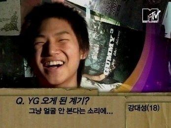 就是BIGBANG的大聲 當年訪問他來YG的契機 他也說了是因為不看臉的傳聞XD