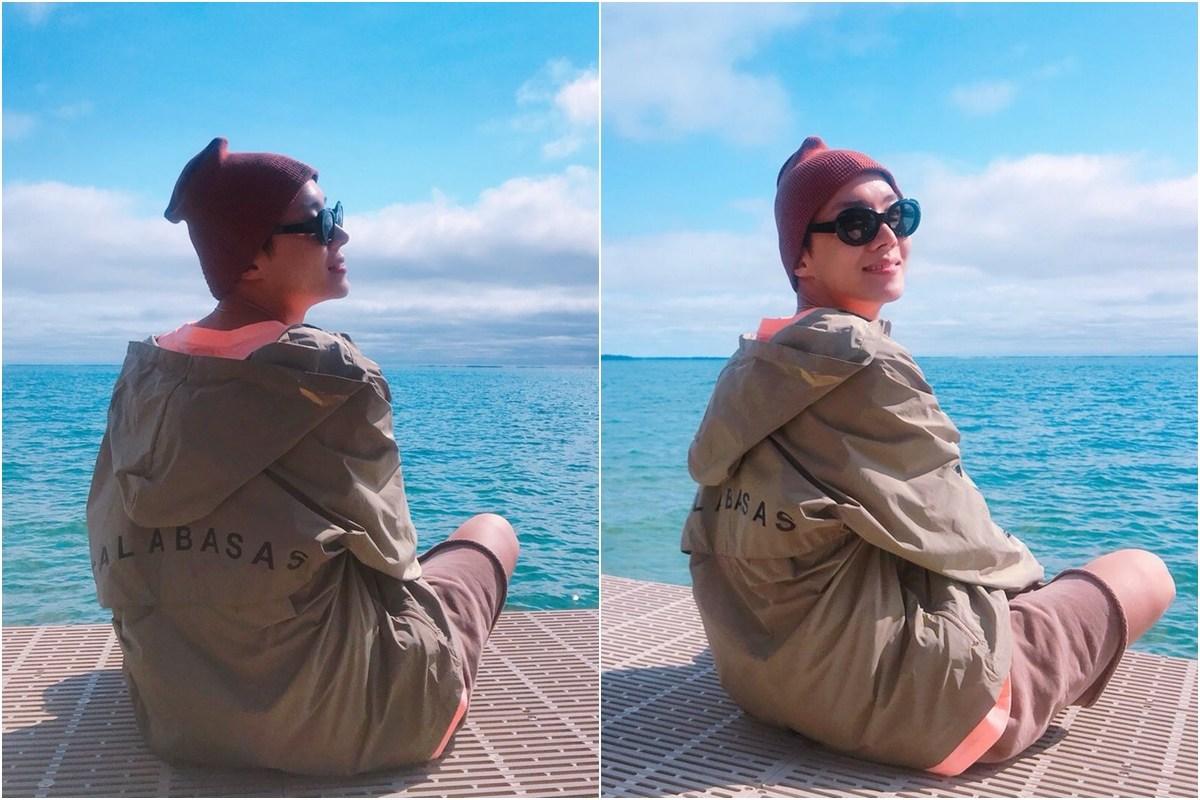 接下來是j-hope在加拿大拍的海邊照,每位成員是從小練習拍攝女友視角長大的嗎?怎麼各個都這麼會!! (ARMY內心小劇場之不負責任對白) j-hope:咦!你剛叫我嗎? ARMY:別這樣回眸一笑啦~誰受得了這個笑容
