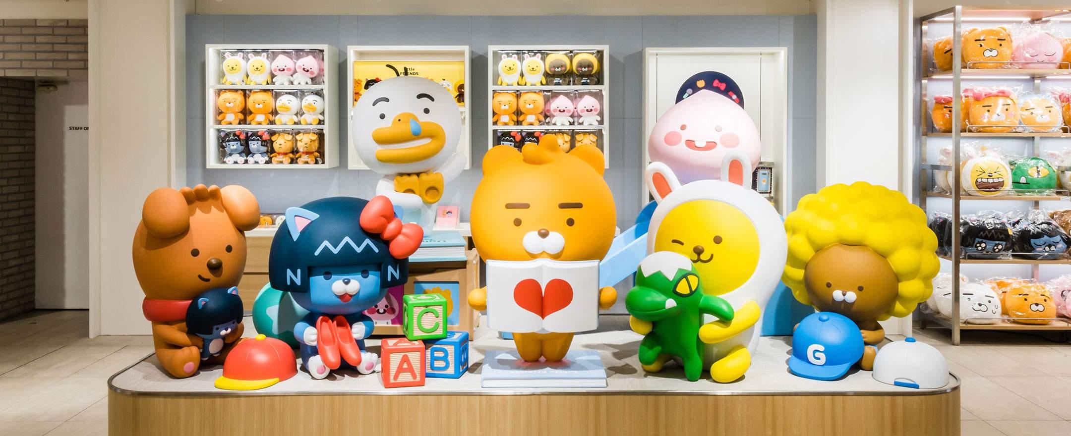 預計10月19日將在Kakao Friends江南旗艦店3樓正式販售,現場還可以看到其他特殊商品喔~~快來朝聖吧!
