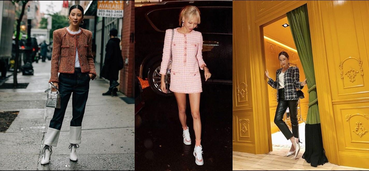 「想走名媛路線的時候」 以Chanel為經典的「毛呢材質」外套,是名媛衣櫃裡的固定班底,無論是搭跟鞋、靴子或甚至球鞋,都為氣質大大加分,典雅卻不古板,想為自己加點氣質分數時,可以參考這類毛呢材質單品呦!