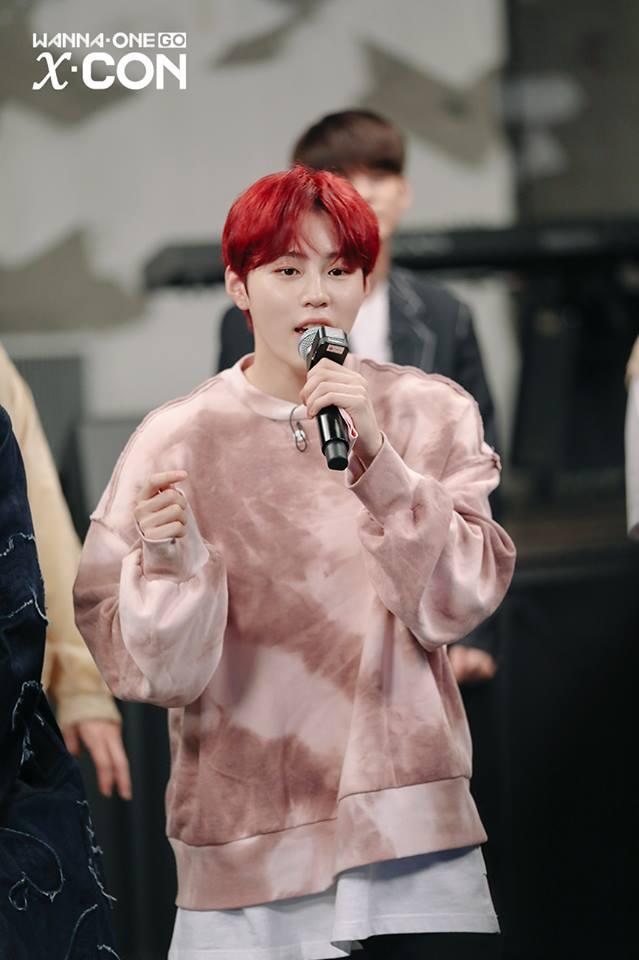 # Wanna One - 河成雲 河成雲染成紅髮之後不只搶眼,也讓皮膚更顯白,粉絲看到之後都說好閃亮好好看!