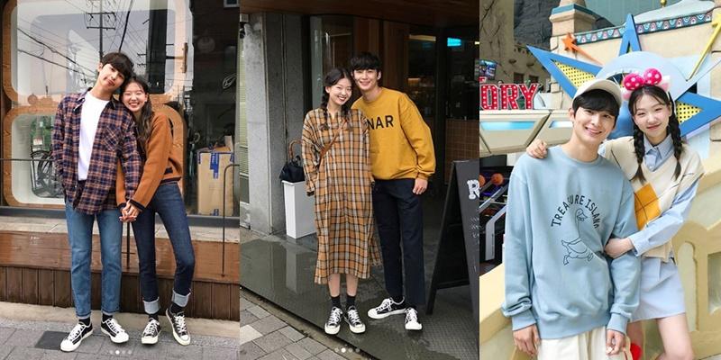 1、906studio 主要以女性穿搭為主的韓國網店,每隔一小陣子會推出新一季的情侶穿搭,不強求穿一樣的花色或剪裁,這種方式雖然比較容易搭失敗,但熟悉了反而可以培養出彼此的默契呢!不喜歡太拘束的情侶們可以嘗試這種自由度較高的穿搭技巧。(可以在配件單品上用點心,像是相似款的鞋子也能提高一致性。)