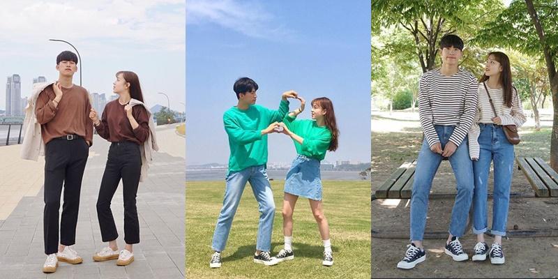 3、DAY OF ME 這對大概就是衣櫃打開長一樣的兩個人(喂!)從頭到腳的情侶穿搭在韓國其實真的很常見,完全展現熱戀到想跟彼此融在一起的決心,能搭出男女有別又如此一致的outfit說真的也很不容易,喜歡走複製人路線的情侶們可以參考他們的穿搭。