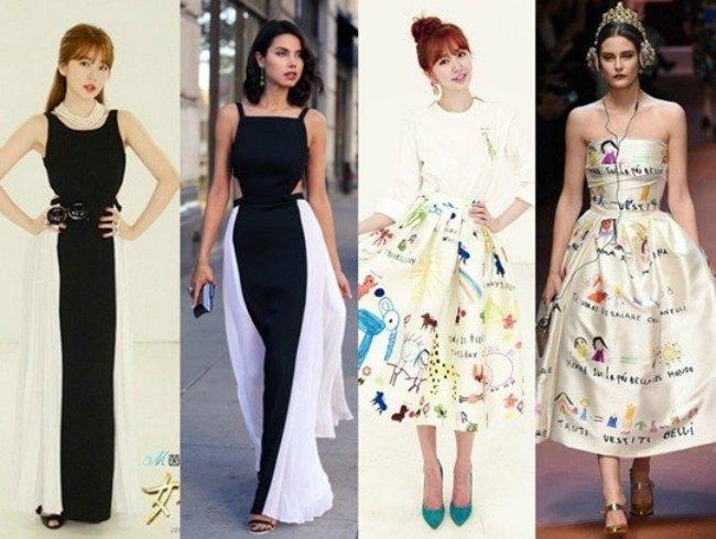 接著網友們陸續找到不少尹恩惠疑似抄襲大品牌的證據,《女神新裝》中向電影女主角致敬的主題,尹恩惠設計的黑白長裙與Valentino秋冬款,緞面塗鴉長裙也與Dolce&Gabbana都頗為相似,甚至有尹恩惠成名作《宮 野蠻王妃》內部人員透露她對外說自己手繪的拖鞋,也是造型師的作品。