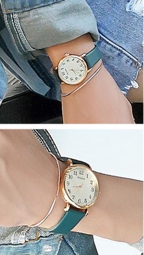 #JULIUS 復刻回憶皮革腕錶:但如果你覺得女性化的手錶可能會侷限你的穿搭風格,在平常休閒裝扮來說比較不適合,那就可以選擇這款設計樸實簡單的中性錶,平常做休閒穿搭的時候就可以戴這款手錶~