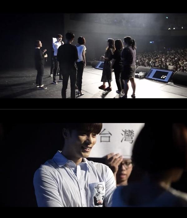 最令台灣粉絲開心的是,第一集中有段畫面使用了成勛來台灣舉辦見面會時的影片,大家有看出來這個場地嗎XD?