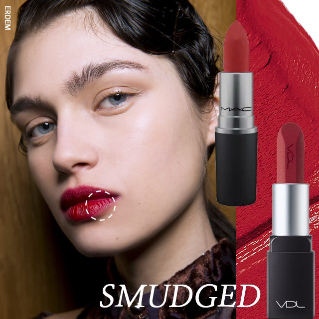 本季強烈的唇膏質感就像用腮紅處理一般,展現霧面的嘴脣的red velvet,整體來看雖然呈霧面啞光,但不會產生乾燥的感覺,脣線模糊,給人一種沉穩的感覺,若是屬於脣妝容易暈染的人,可以利用棕色系列陰影眼影,與紅色唇膏混合,調出磚紅色系,打造專屬秋天的脣妝感。