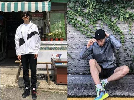 7號參賽者:穿出防水外套的心動魅力,柳俊烈 | 韓國演藝圈裡知名的運動服時尚代表,柳俊烈喜歡在基本盤黑白灰的穿搭上,加些小亮點,可能是一雙亮色的運動鞋或高筒休閒鞋,也可能再搭上黑色的墨鏡、棒球帽等其餘黑色系的裝飾品,基本上不太會有色彩繽紛的穿搭,這就是他的基本穿搭哲學,很基本很安全很好看。