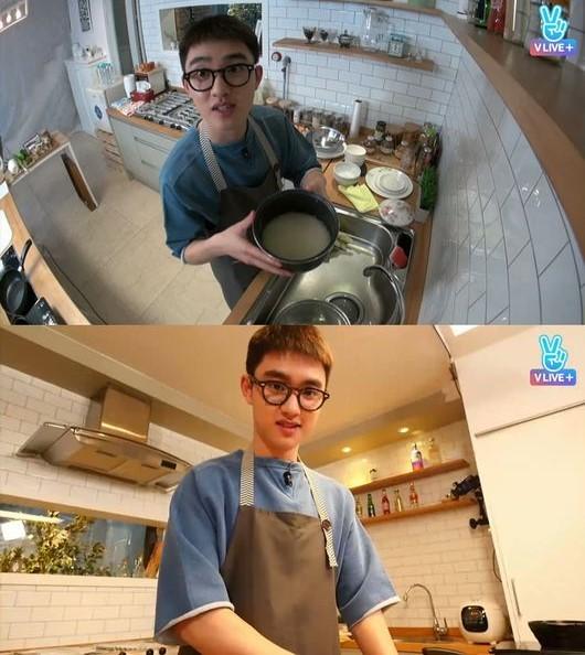 #EXO D.O. EXO成員公認是廚藝最好的D.O.,曾經也在V LIVE上大展身手,最擅長的料理據說是炒飯和義大利麵,與在《百日的郎君》中化身什麼都不會且失去記憶的王世子可是相當反差萌的!