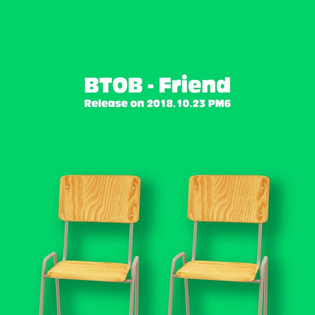 BTOB 在10月底發行的特別單曲《Friend》更讓大眾見識到BTOB的音樂實力這首歌是成員鎰勳親自創作,旼赫也有參與作詞。