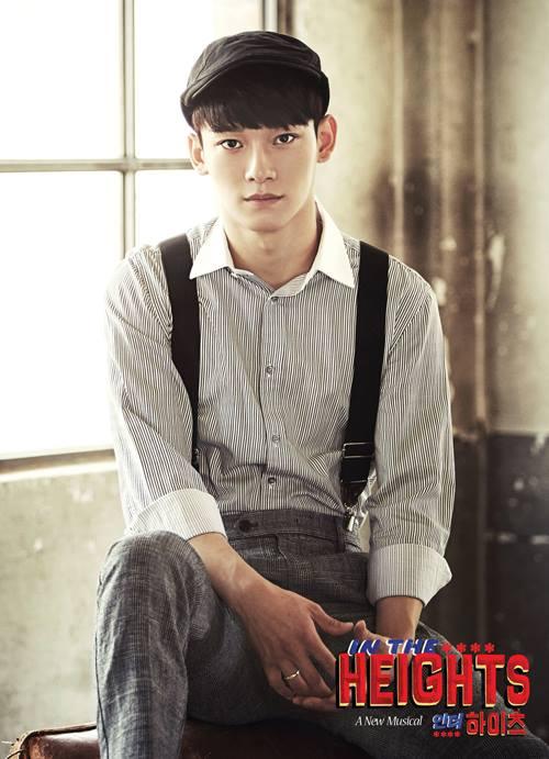身為EXO三大主唱的CHEN也有出演過音樂劇《In The Heights》哦!這個復古的造型真的太可愛啦~