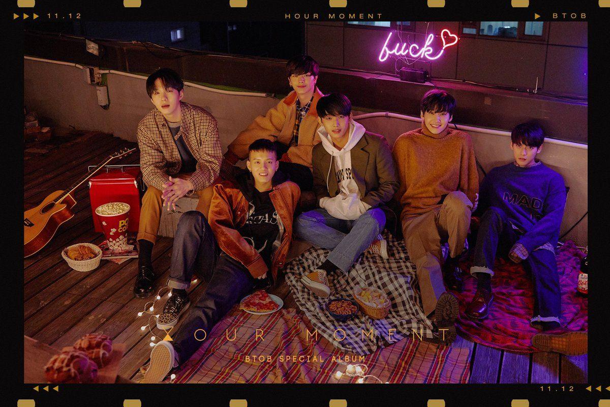 於11月12日發行首張特別專輯《HOUR MOMENT》正式回歸歌壇的BTOB,這也是隊長恩光入伍後首次以六人體制進行活動