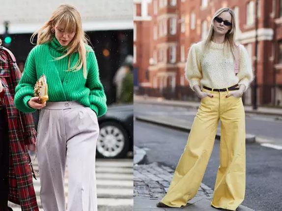 1、中性率直的寬褲 |  寬褲呢,找到屬於自己的那一件,就是搭什麼都時髦的百搭聖品,而搭上針織上衣,更是可以中和掉一些針織的柔軟,為妳加點率性的氣質。但請記得,把針織上衣紮進褲子裡才能加長妳的雙腿喔~如果妳還想多修飾點腿部線條的話,比起較薄的材質,厚實的單寧或毛料寬褲會是妳更好的選擇!