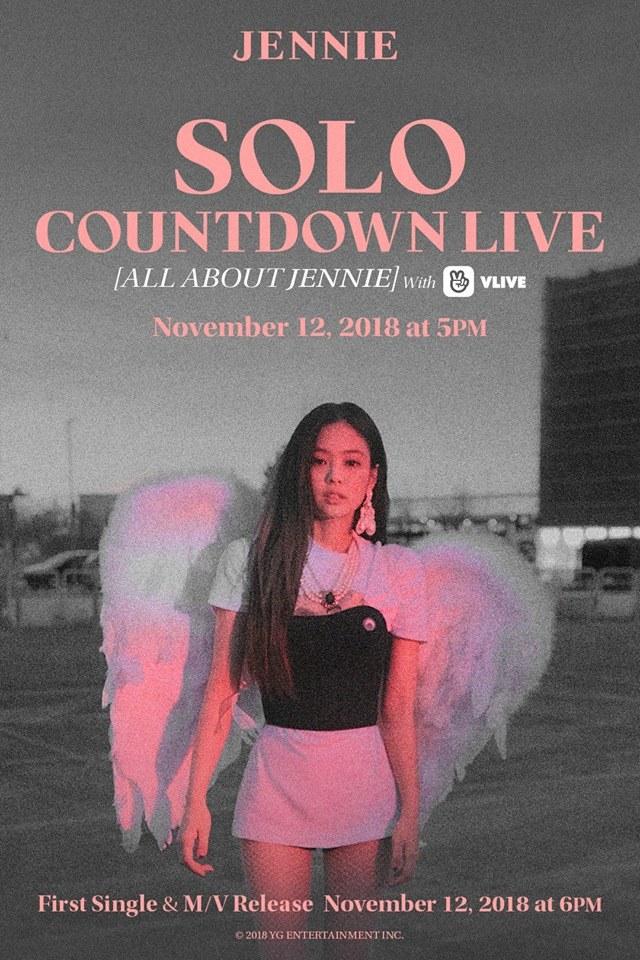 BLACKPINK成員JENNIE在12日發行了她的首張個人單曲《SOLO》,音源發行後13日的凌晨,在韓國7個主要音源榜的實時排行榜中佔據了第一!