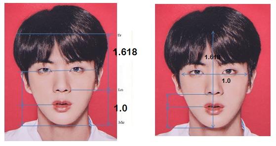不過不要忘記,防彈少年團裡還有一個 worldwide handsome 大哥Jin阿ㅋㅋㅋ而Jin更是被美國的整型外科醫師選為「最完美臉蛋」,在269名有名的亞洲男性中脫穎而出,Jin擁有如此完美的比例,也難怪常常說自己帥也不害羞啊XD