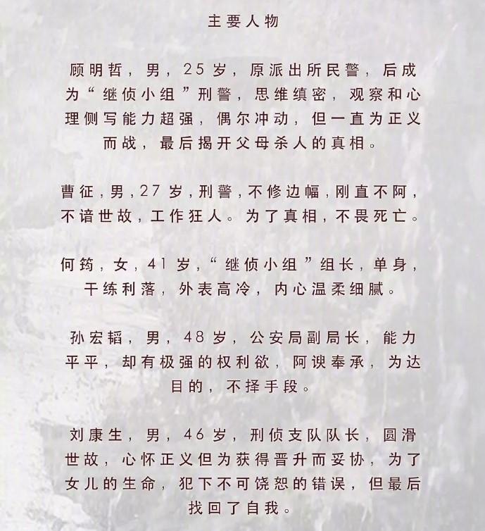 從微博「青春小說影視劇透社」流出的人物設定和韓版有些不同,韓版朴海英努力找出哥哥死因的劇情在陸版被改編成父母殺人的真相。