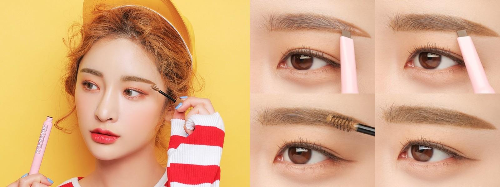 3CE STUDIO COLORING BROW PENCIL & MASCARA-原價551元,七折後→161元: 你真的沒看錯,打完七折紙要161元,根本就等於開架產品啊!雙頭設計,一頭可以先拿來描繪眉型,再用染眉膏修飾眉毛的顏色,讓你的眉毛看起來自然又有型!